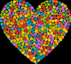 colourful alphabet heart